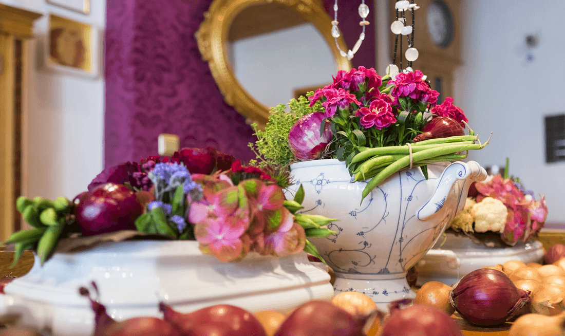Tischdekoration Gemüse